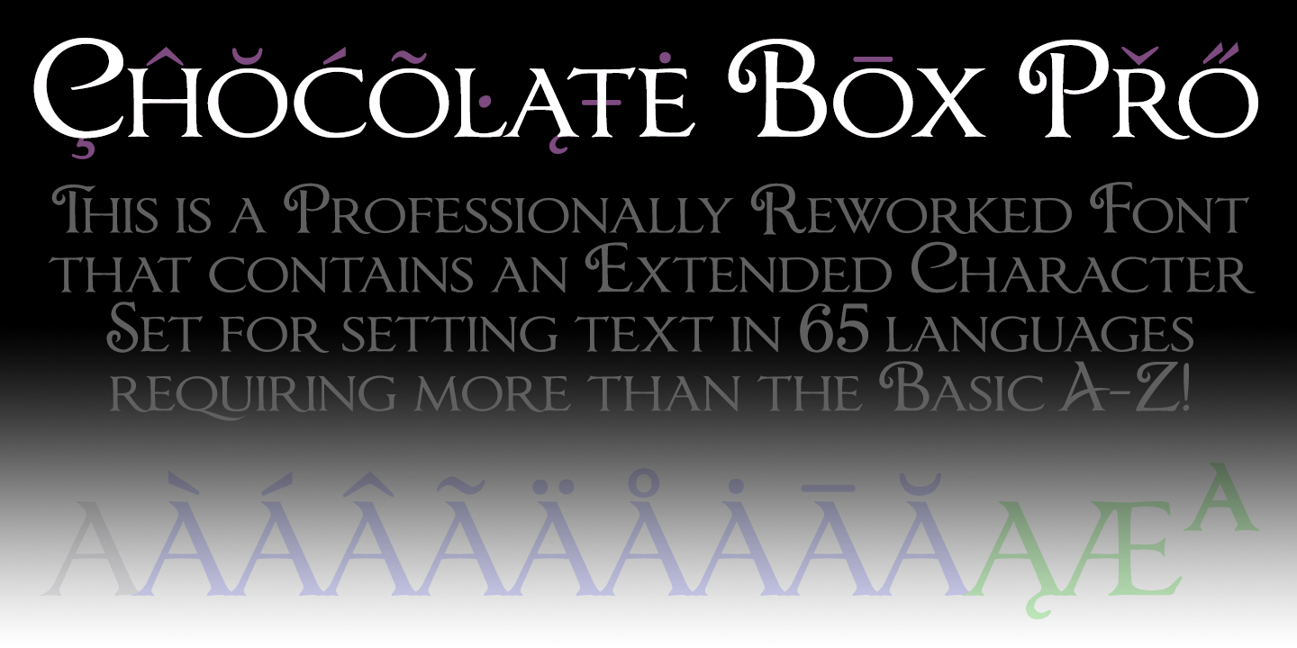 Chocolate Box Pro font family - 4