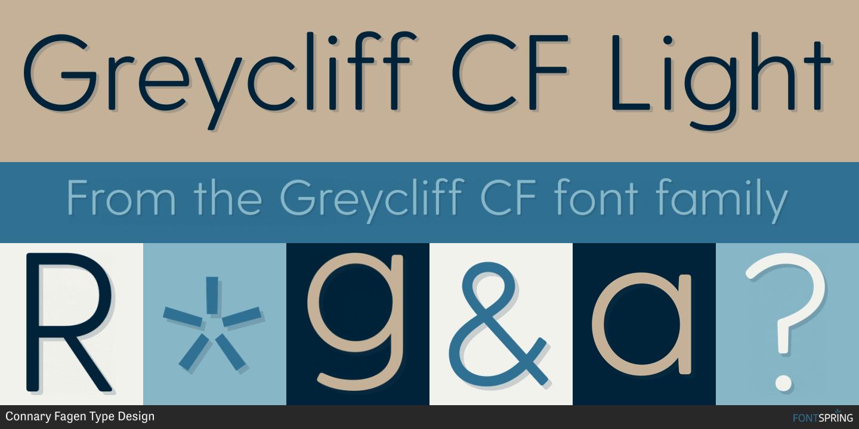Fontspring | Similar Fonts To Greycliff CF
