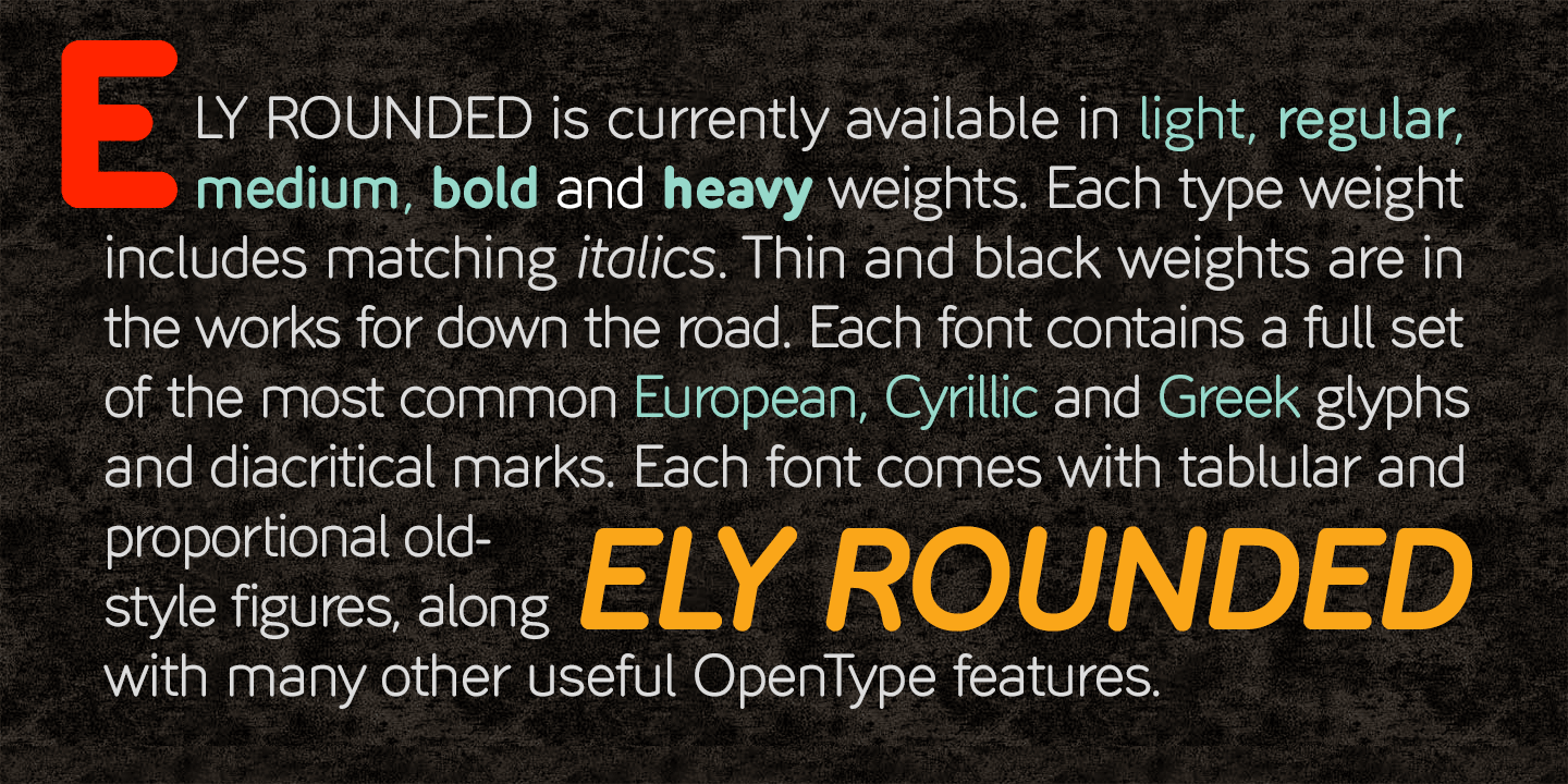 Fontspring | Ely Rounded Fonts by Cory Maylett Design