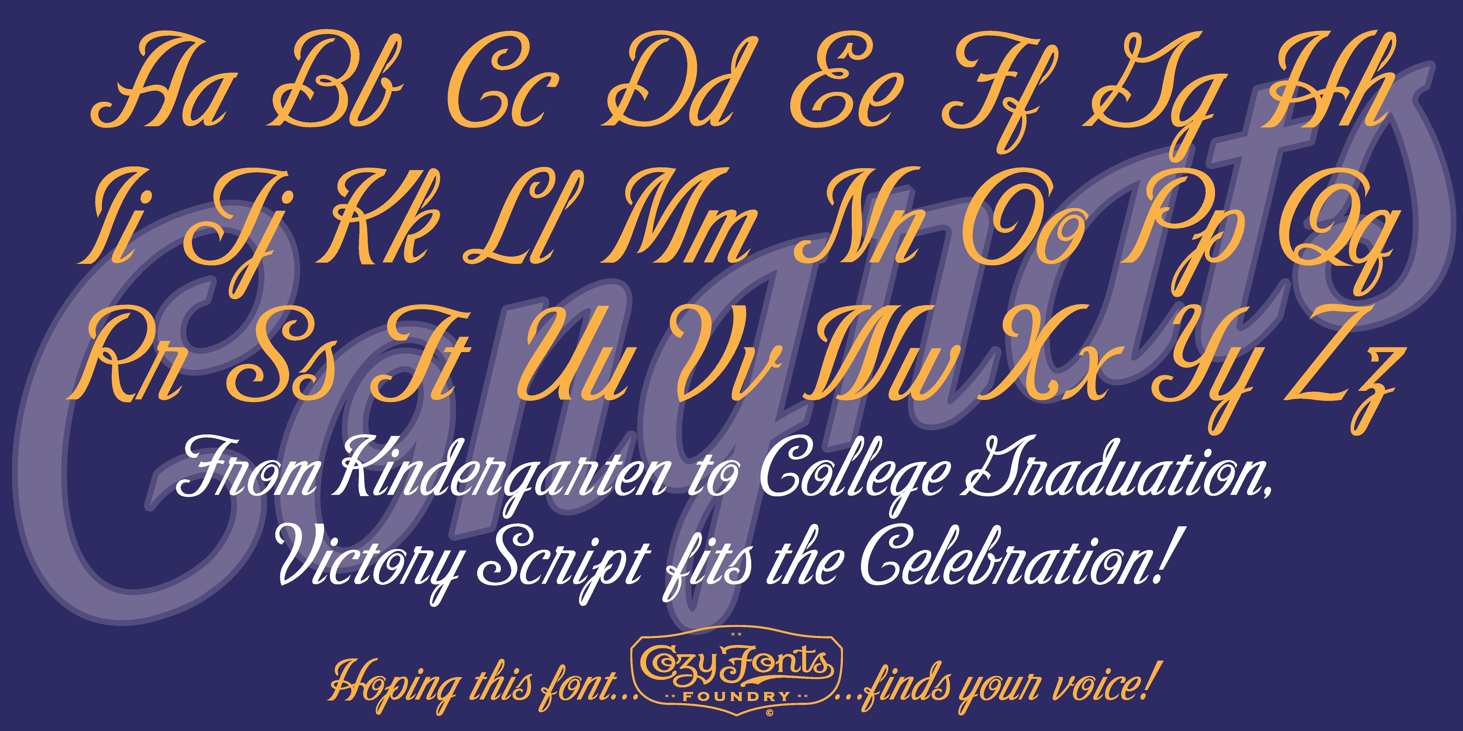Fontspring | Victory Script Fonts by CozyFonts Foundry