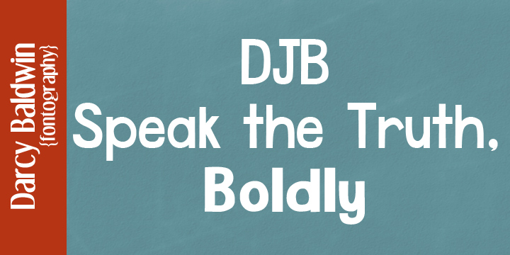 DJB Speak The Truth font family