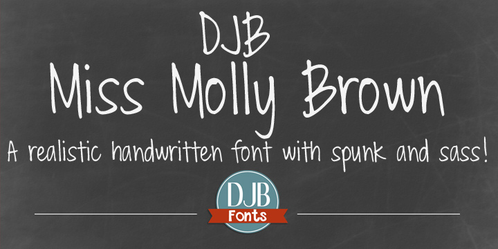 DJB Miss Molly Brown font family