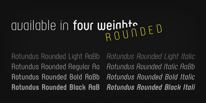 Rotundus Rounded font family - 1