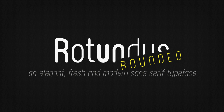 Rotundus Rounded font family