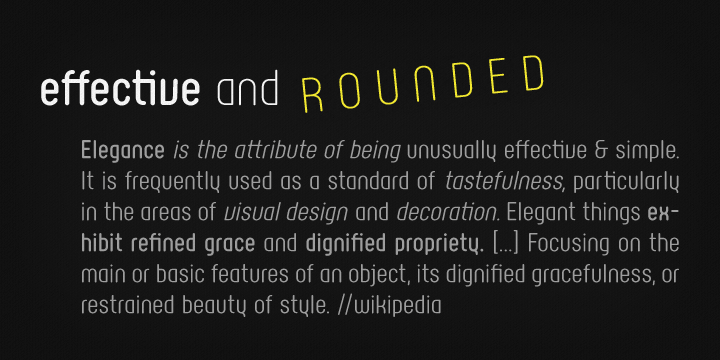 Rotundus Rounded font family - 2