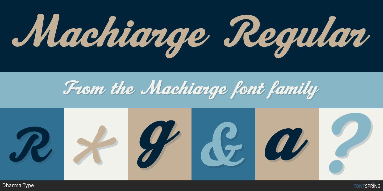Fontspring | Similar Fonts To Machiarge