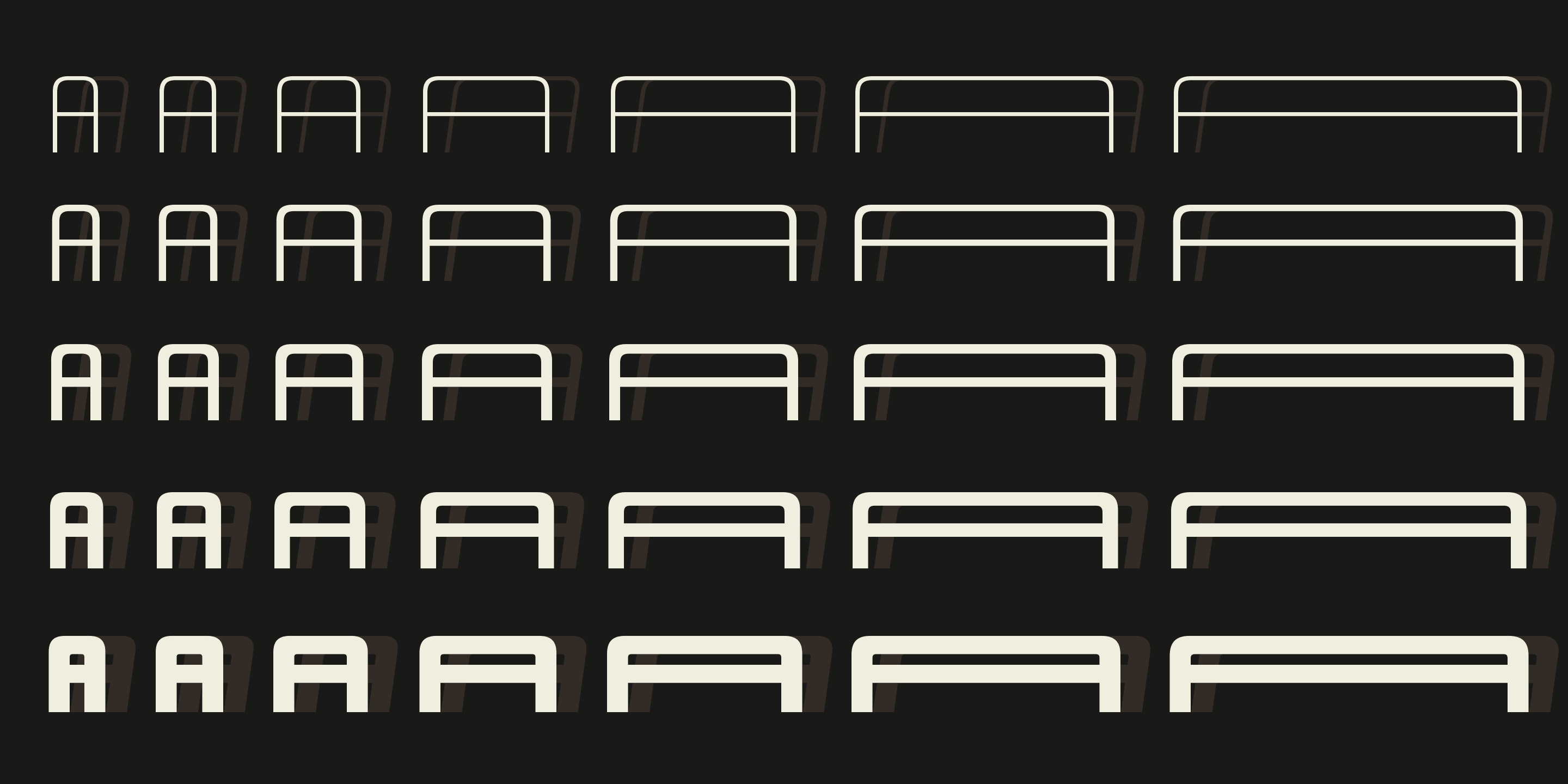 Design System A font family - 1