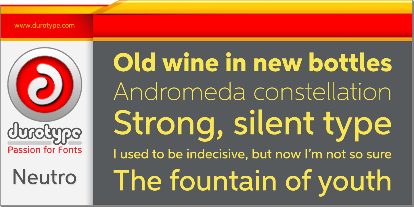 Fontspring | Neutro Fonts by Durotype