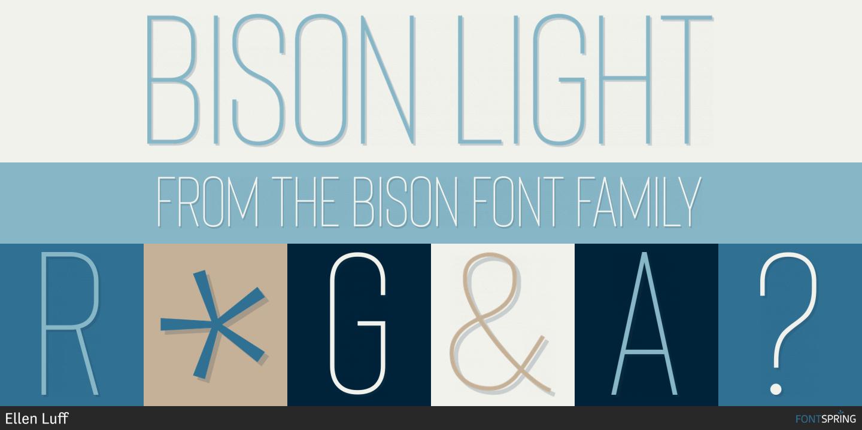 Fontspring | Similar Fonts To BISON