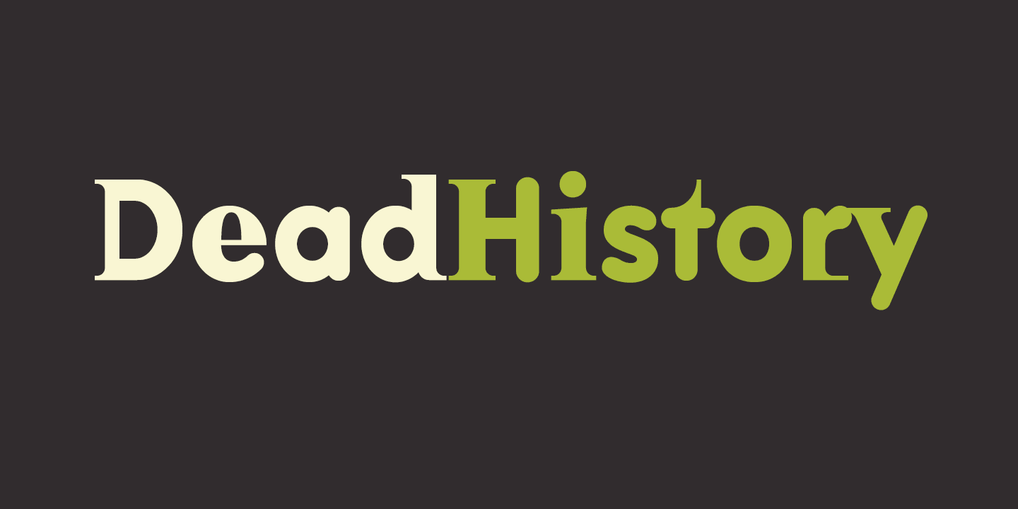 Dead History font family