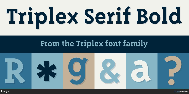 Triplex serifextra bold