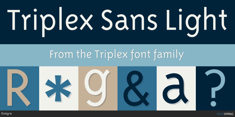 Fontspring | Similar Fonts To Triplex