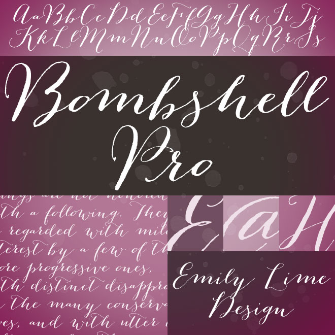 Bombshell Pro Font Free Download