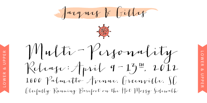Jacques gilles font by emily lime design fontspring