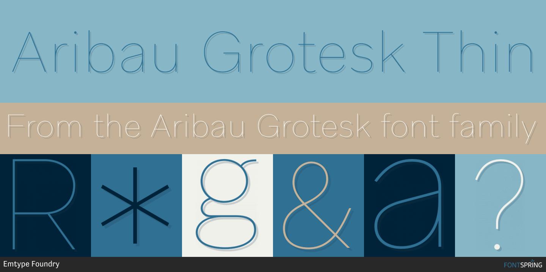 Fontspring | Similar Fonts To Aribau Grotesk