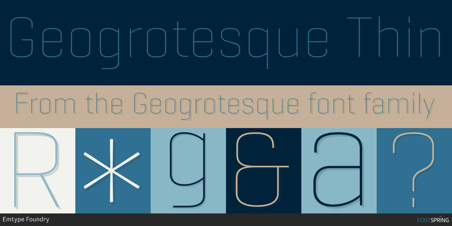 Fontspring | Similar Fonts To Geogrotesque
