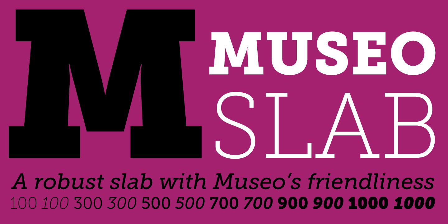 Museo Slab font family - 1