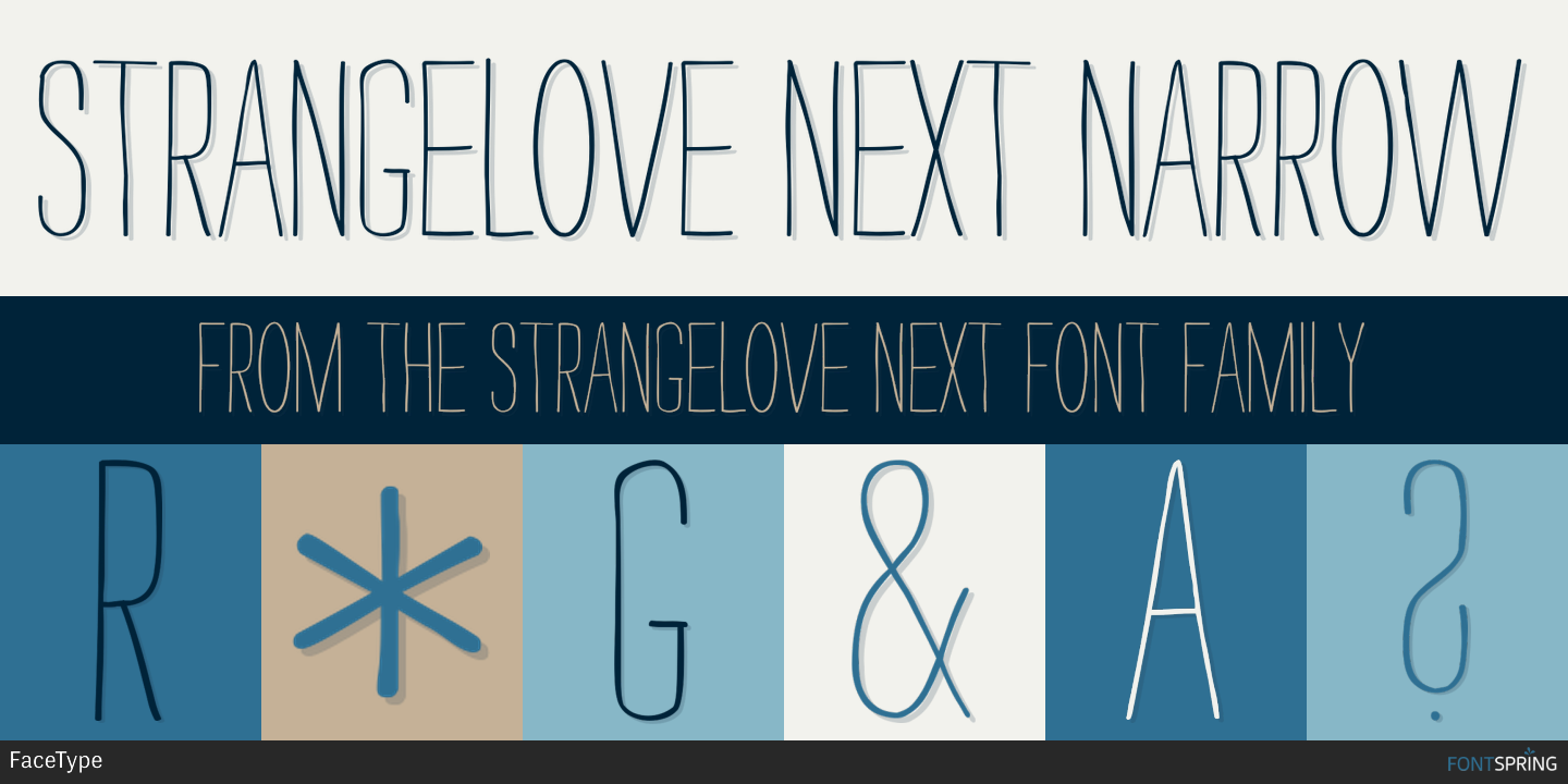 Free Strangelove Next Narrow Fonts