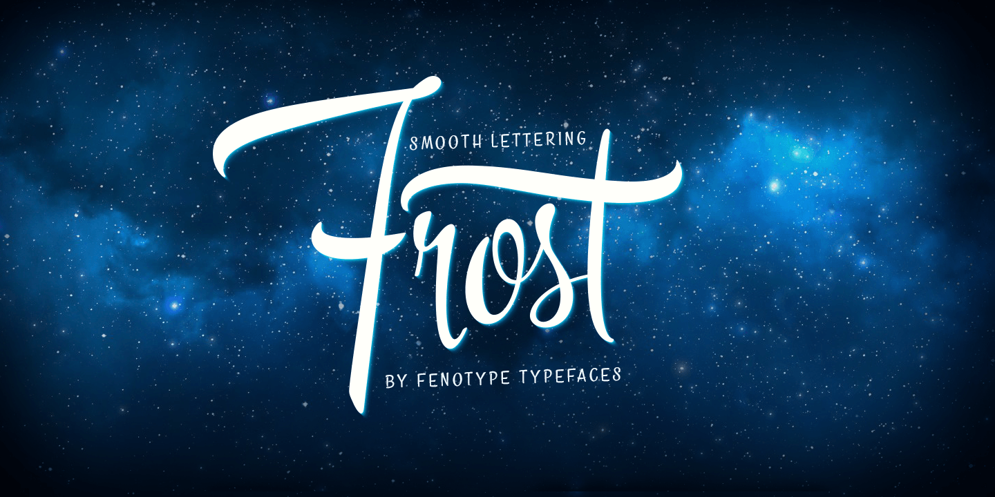 Fontspring | Frost Fonts by Fenotype