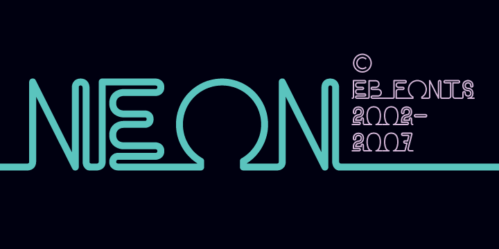 eb neon font by fenotype fontspring