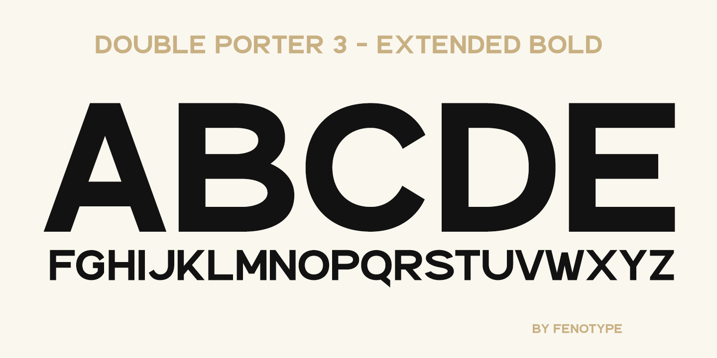 Fontspring | Double Porter Fonts by Fenotype