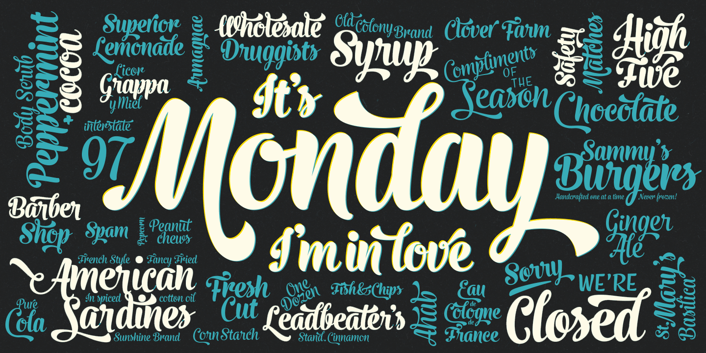 fontspring  u00bb monday fonts by fenotype