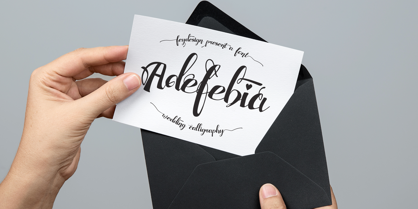 Adefebia font family - 7