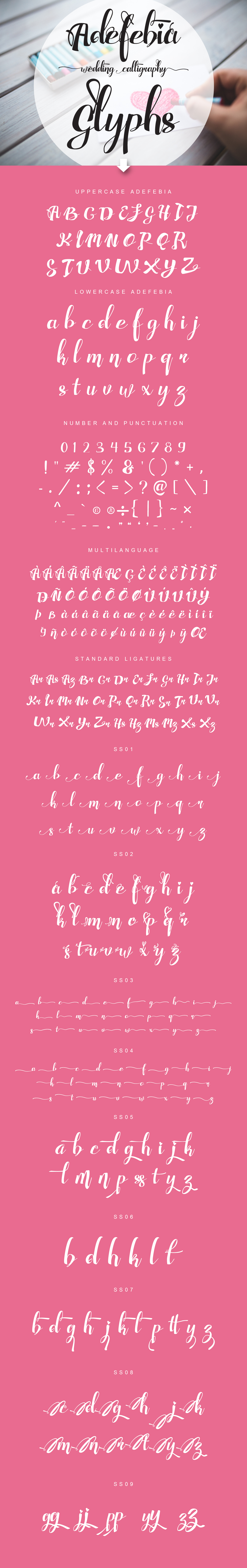 Adefebia font family