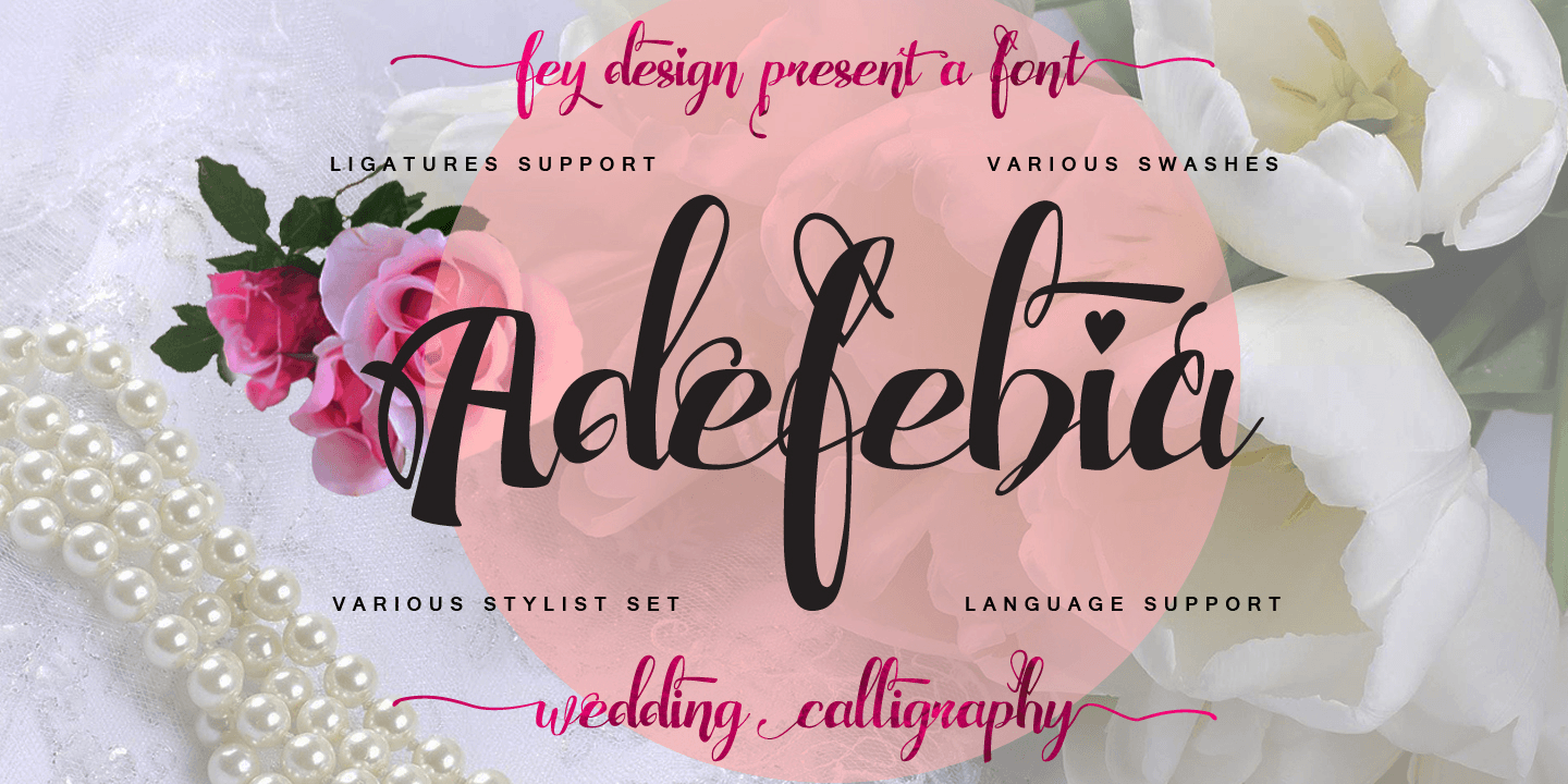 Adefebia font family - 2