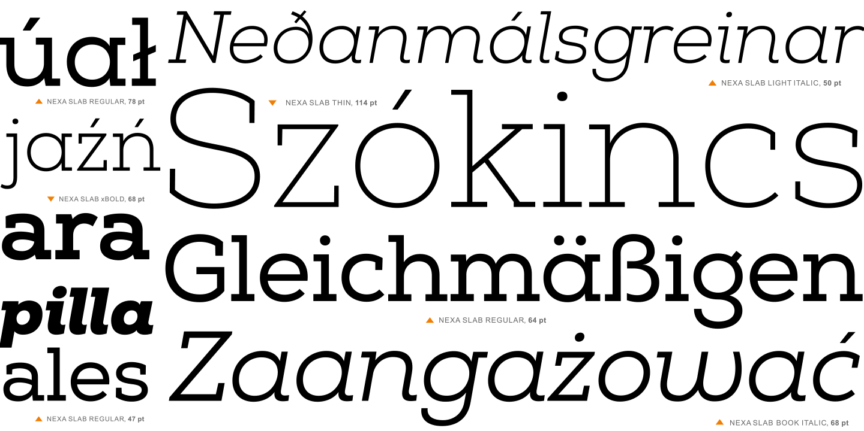 Fontspring | Nexa Slab Fonts by Fontfabric