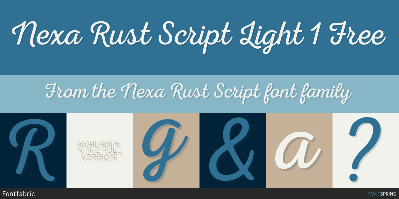 Fontspring | Similar Fonts To Nexa Rust