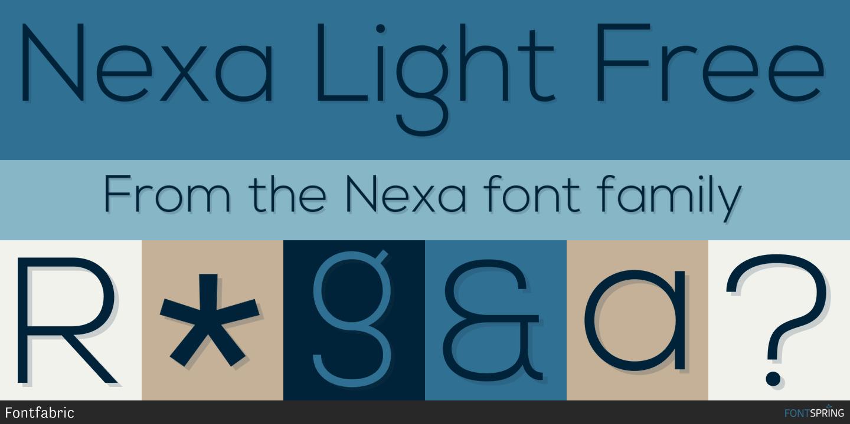 Fontspring | Similar Fonts To Nexa
