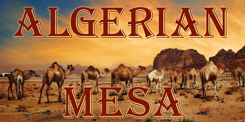 Fontspring   Algerian Mesa Fonts by FontMesa