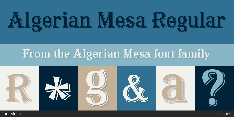 Fontspring   Similar Fonts To Algerian Mesa