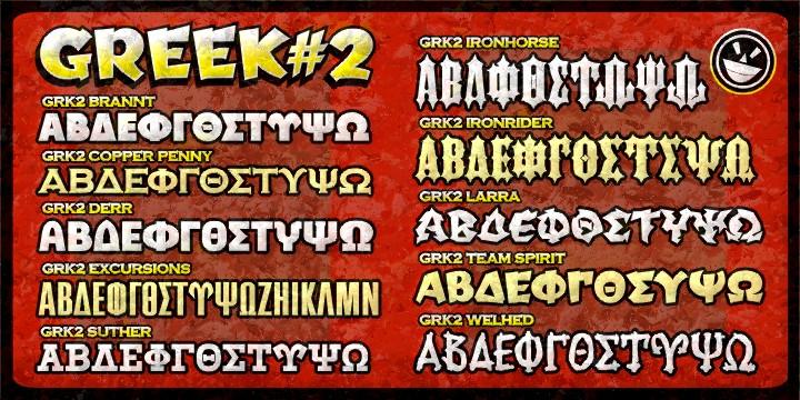Fontspring | Greek Font Set 2 Fonts by The Fontry