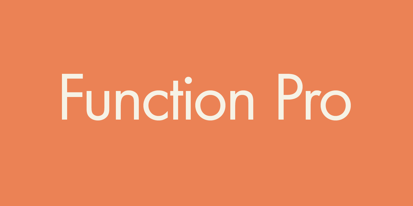 Function Pro font family