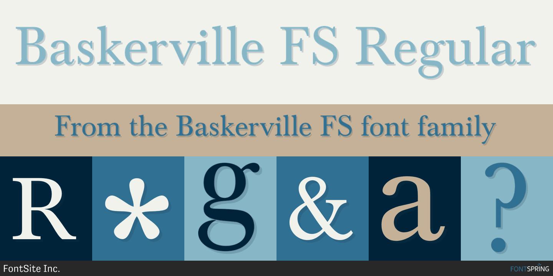 Fontspring similar fonts to baskerville fs Baskerville