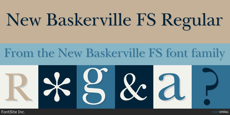 Similar Fonts To New Baskerville FS » Fontspring