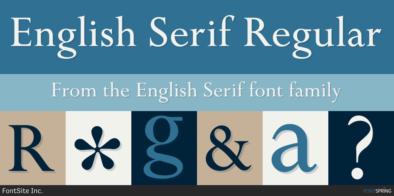 Fontspring | Similar Fonts To English Serif