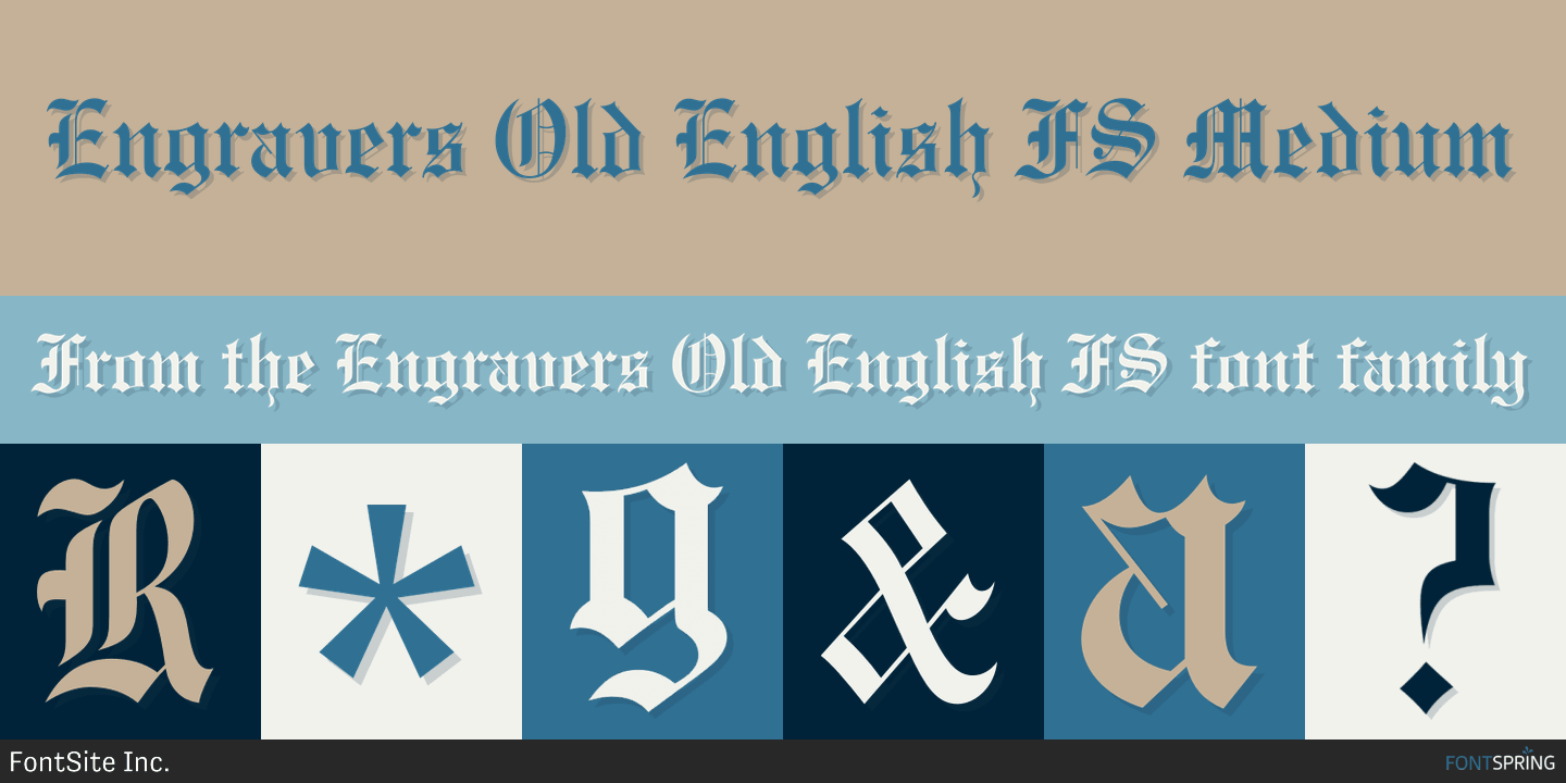 Fontspring | Similar Fonts To Engravers Old English FS