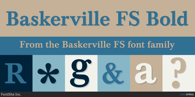 Fontspring baskerville fs fonts by fontsite inc Baskerville