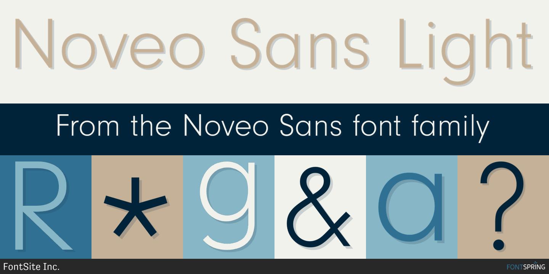 Fontspring   Similar Fonts To Noveo Sans