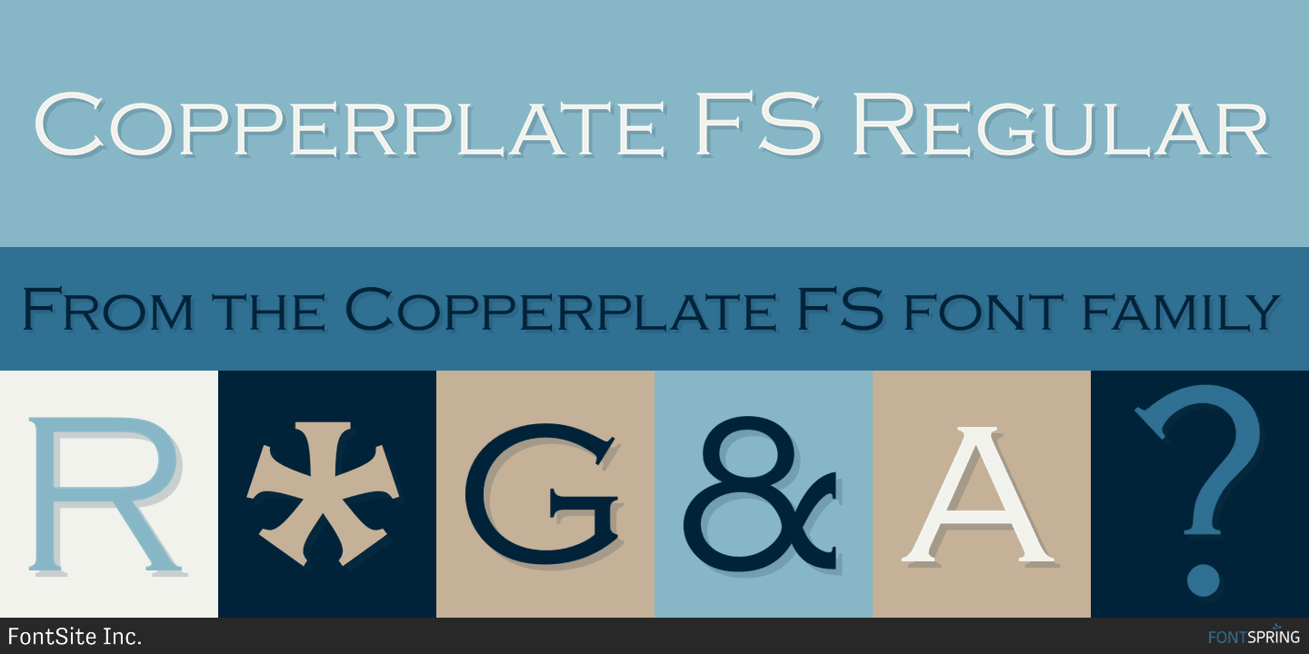 Copperplate Gothic Free Font