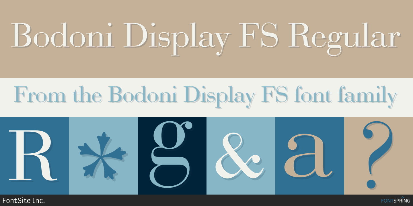 Fontspring | Bodoni Display FS Fonts by FontSite Inc