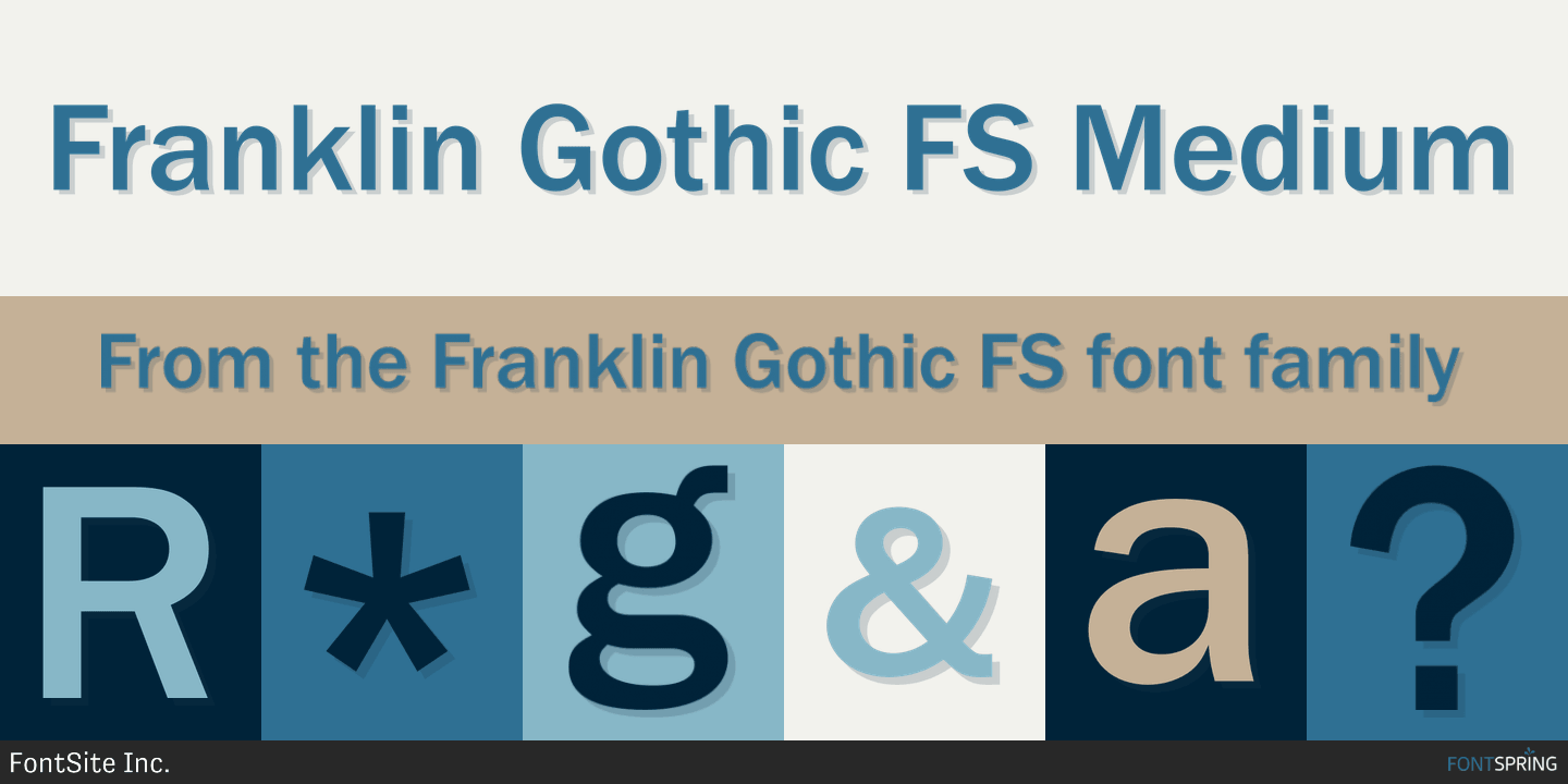Fontspring | Franklin Gothic FS Fonts by FontSite Inc