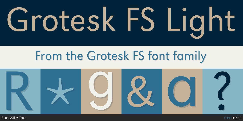 Fontspring | Similar Fonts To Grotesk FS