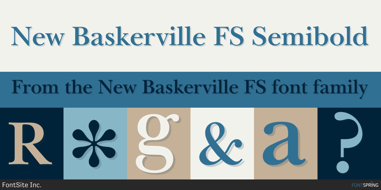 Fontspring new baskerville fs fonts by fontsite inc Baskerville