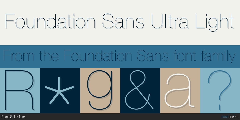 Fontspring | Similar Fonts To Foundation Sans