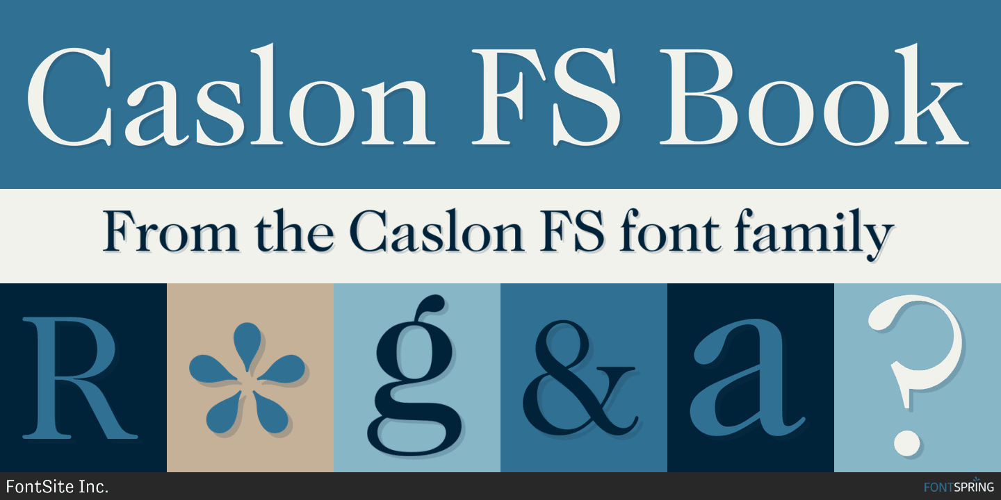 Fontspring | Similar Fonts To Caslon FS