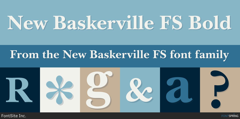 New Baskerville FS Fonts by FontSite Inc. » Fontspring